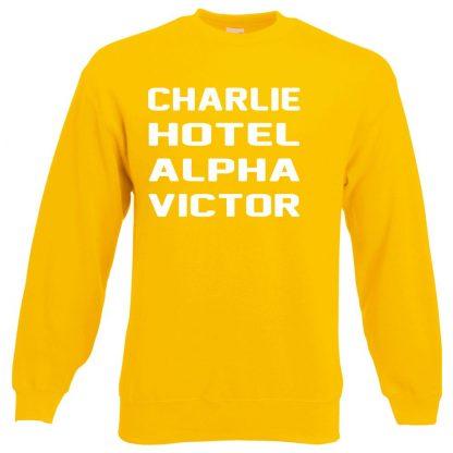 C.H.A.V Sweatshirt - Yellow, 2XL