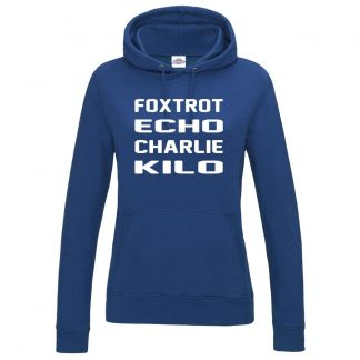 Ladies F.E.C.K Hoodie - Royal Blue, 18