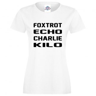 Ladies F.E.C.K T-Shirt - White, 18