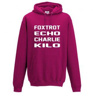 Mens F.E.C.K Hoodie - Hot Pink, 2XL