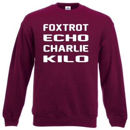F.E.C.K Sweatshirt - Maroon, 2XL
