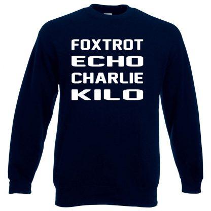 F.E.C.K Sweatshirt - Navy, 3XL