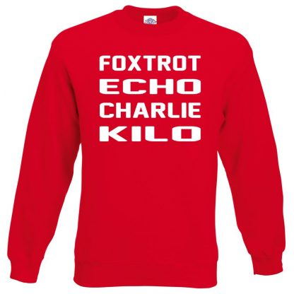 F.E.C.K Sweatshirt - Red, 2XL