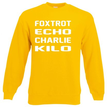 F.E.C.K Sweatshirt - Yellow, 2XL