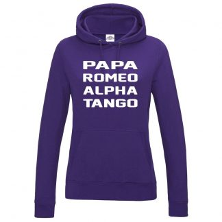 Ladies P.R.A.T Hoodie - Purple, 18
