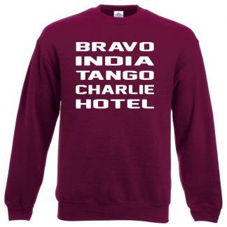 B.I.T.C.H Sweatshirt - Maroon, 2XL