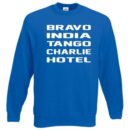 B.I.T.C.H Sweatshirt - Royal Blue, 2XL