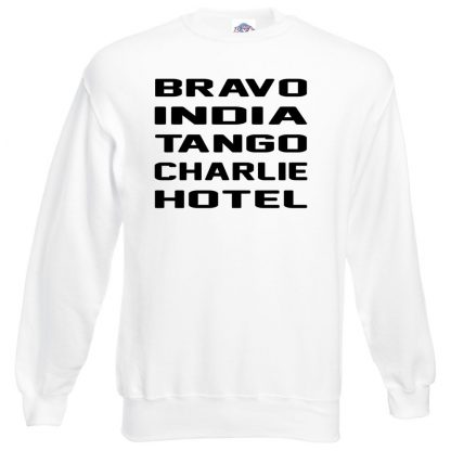 B.I.T.C.H Sweatshirt - White, 3XL