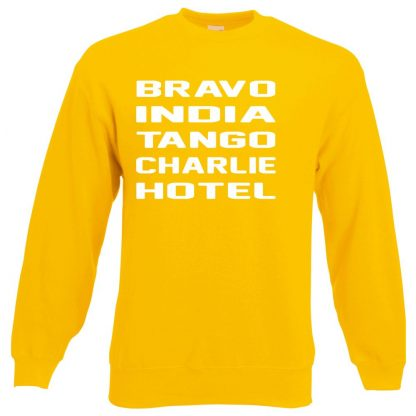B.I.T.C.H Sweatshirt - Yellow, 2XL
