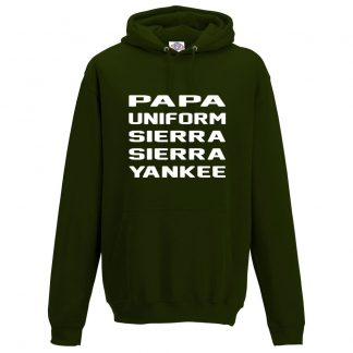 Mens P.U.S.S.Y Hoodie - Forest Green, 2XL