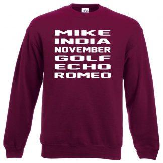 M.I.N.G.E.R Sweatshirt - Maroon, 2XL