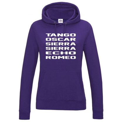 Ladies T.O.S.S.E.R Hoodie - Purple, 18