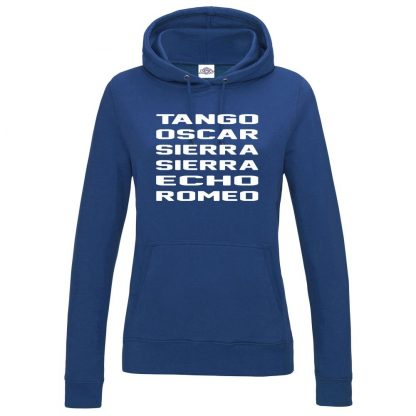 Ladies T.O.S.S.E.R Hoodie - Royal Blue, 18