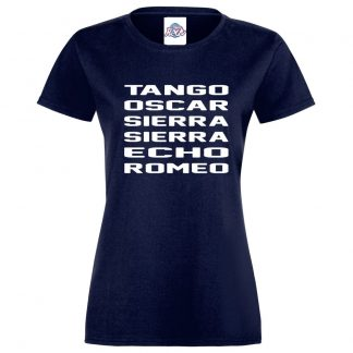Ladies T.O.S.S.E.R T-Shirt - Navy, 18