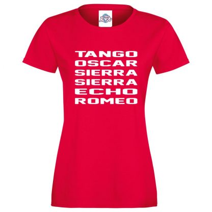 Ladies T.O.S.S.E.R T-Shirt - Red, 18