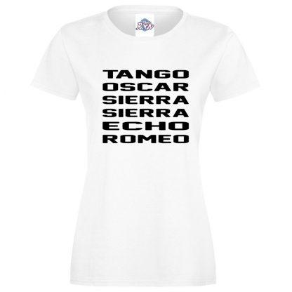 Ladies T.O.S.S.E.R T-Shirt - White, 18