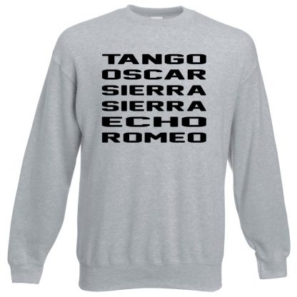 T.O.S.S.E.R Sweatshirt - Grey, 3XL