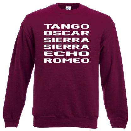 T.O.S.S.E.R Sweatshirt - Maroon, 2XL