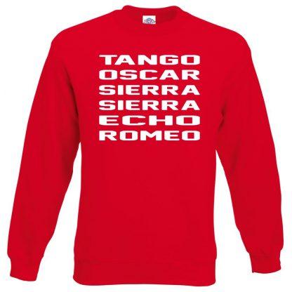 T.O.S.S.E.R Sweatshirt - Red, 2XL