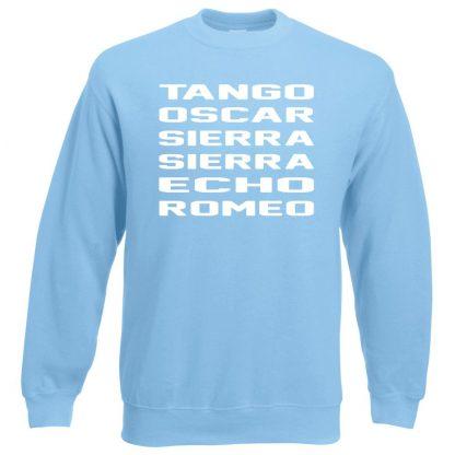 T.O.S.S.E.R Sweatshirt - Sky Blue, 2XL