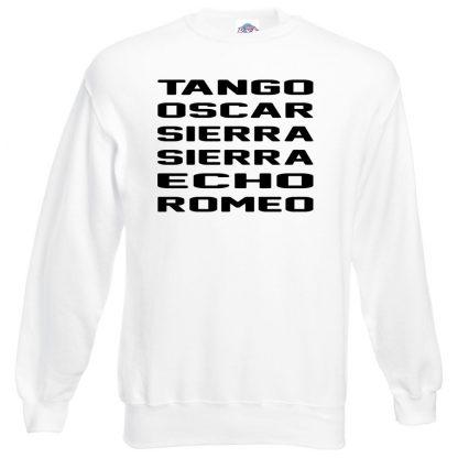 T.O.S.S.E.R Sweatshirt - White, 3XL