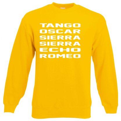 T.O.S.S.E.R Sweatshirt - Yellow, 2XL