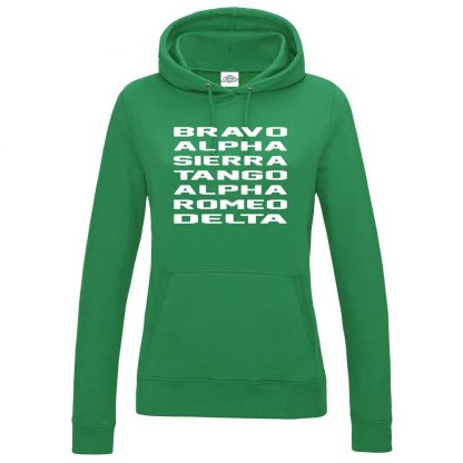 Ladies B.A.S.T.A.R.D Hoodie - Kelly Green, 18