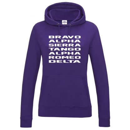 Ladies B.A.S.T.A.R.D Hoodie - Purple, 18