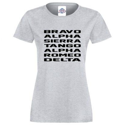 Ladies B.A.S.T.A.R.D T-Shirt - Heather Grey, 18