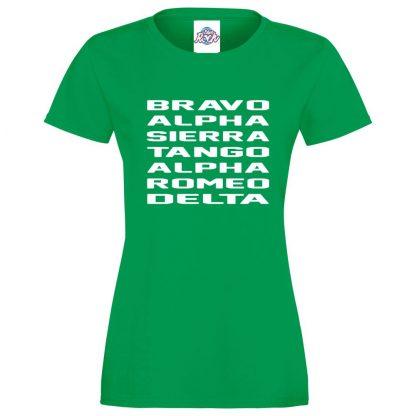 Ladies B.A.S.T.A.R.D T-Shirt - Kelly Green, 18