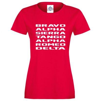 Ladies B.A.S.T.A.R.D T-Shirt - Red, 18