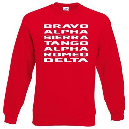 B.A.S.T.A.R.D Sweatshirt - Red, 2XL