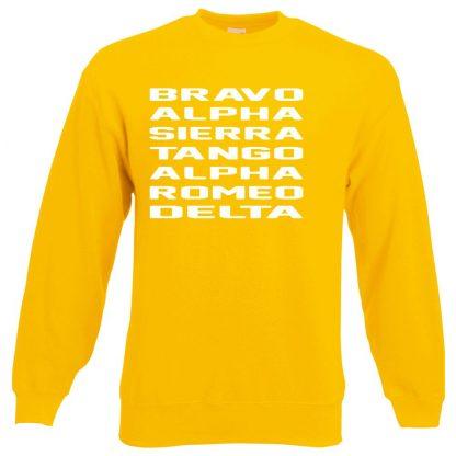 B.A.S.T.A.R.D Sweatshirt - Yellow, 2XL