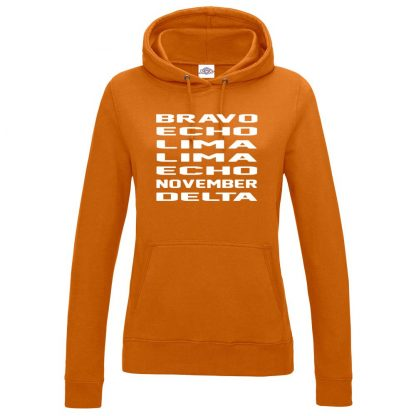 Ladies B.E.L.L.E.N.D Hoodie - Orange, 18