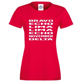 Ladies B.E.L.L.E.N.D T-Shirt - Red, 18