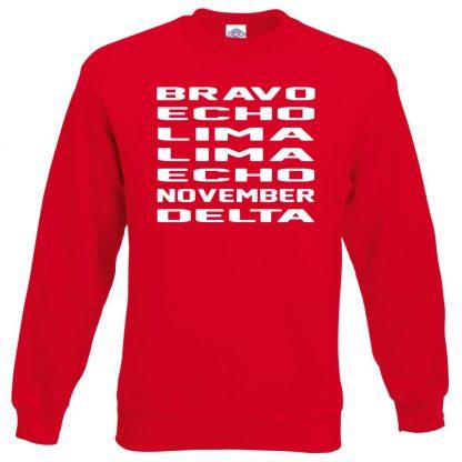 B.E.L.L.E.N.D Sweatshirt - Red, 2XL