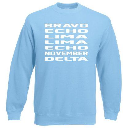 B.E.L.L.E.N.D Sweatshirt - Sky Blue, 2XL