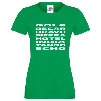 Ladies G.O.B.S.H.I.T.E T-Shirt - Kelly Green, 18