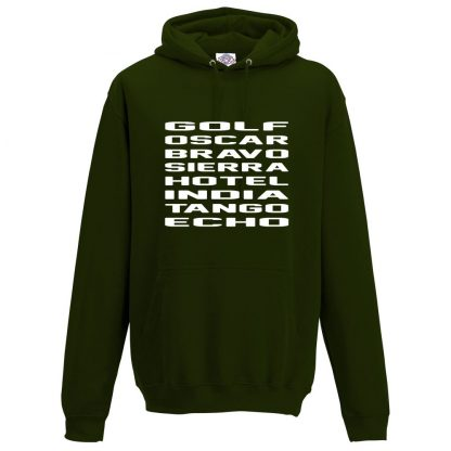 Mens G.O.B.S.H.I.T.E Hoodie - Forest Green, 2XL