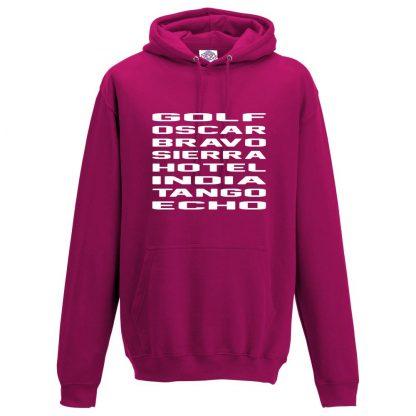 Mens G.O.B.S.H.I.T.E Hoodie - Hot Pink, 2XL