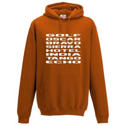 Mens G.O.B.S.H.I.T.E Hoodie - Orange, 2XL