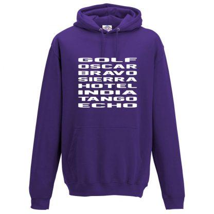Mens G.O.B.S.H.I.T.E Hoodie - Purple, 3XL