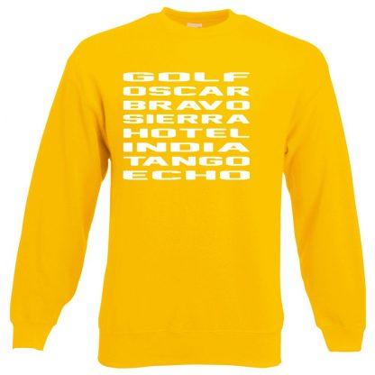 G.O.B.S.H.I.T.E Sweatshirt - Yellow, 2XL