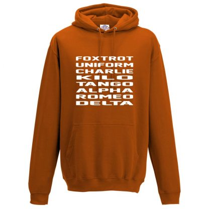 Mens F.U.C.K.T.A.R.D Hoodie - Orange, 2XL