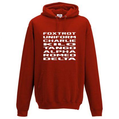 Mens F.U.C.K.T.A.R.D Hoodie - Red, 3XL