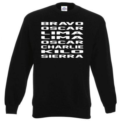 B.O.L.L.O.C.K.S Sweatshirt - Black, 3XL