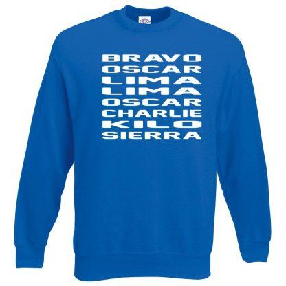 B.O.L.L.O.C.K.S Sweatshirt - Royal Blue, 2XL
