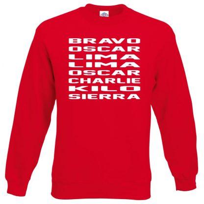 B.O.L.L.O.C.K.S Sweatshirt - Red, 2XL