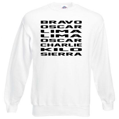 B.O.L.L.O.C.K.S Sweatshirt - White, 3XL