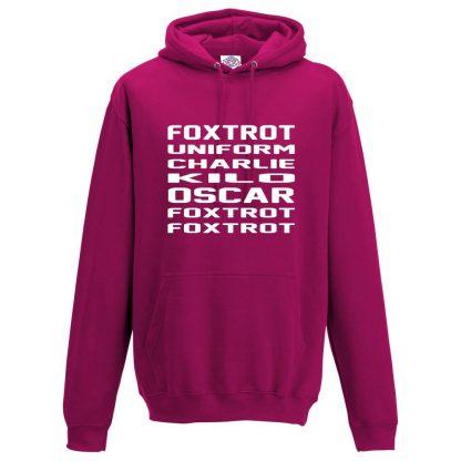 Mens F.U.C.K.O.F.F Hoodie - Hot Pink, 2XL